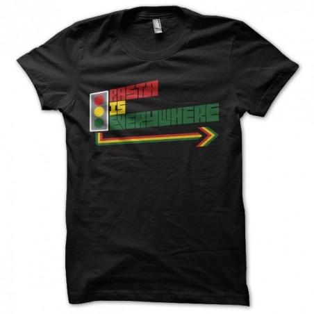 Tee shirt rasta Feu Tricolore noire sublimation