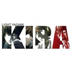 light yagami death t-shirt white anime sublimation