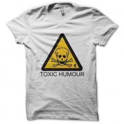 tee shirt toxic humor white sublimation