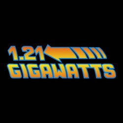 t-shirt 1.21 Gigawatts way back to the future black sublimation