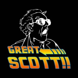 tee shirt Great scott way back to the future black sublimation