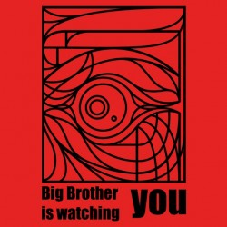 T-shirt Big Brother red sublimation