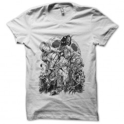 Zombie scary t-shirt white...