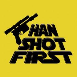 tee shirt han shot first yellow sublimation