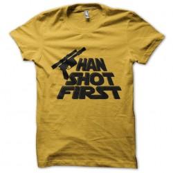 tee shirt han shot first...