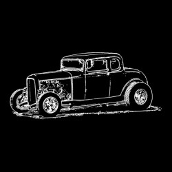Hot rods band t-shirt Muscle Cars black sublimation