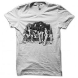 tee shirt ramones groupe effet vieillit  sublimation
