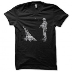 T-shirt Banksy Angel soldier artist t-shirt street art black sublimation