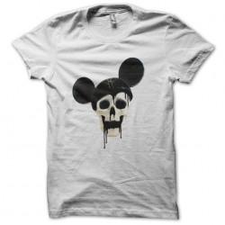 tee shirt skull mickey white sublimation