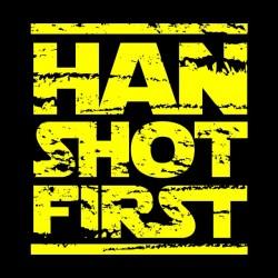 tee shirt Han Shot first black sublimation