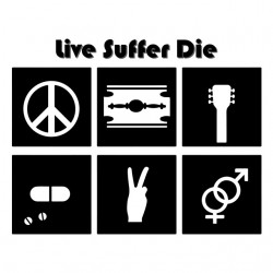 tee shirt live suffer die  sublimation