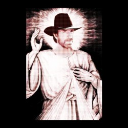 tee shirt chuck norris is jesus  sublimation