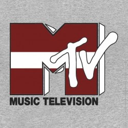 tee shirt mtv music gris...