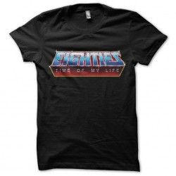 Eighties t-shirt time of my life black sublimation