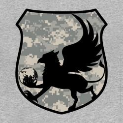 army anti terrorism t-shirt logo gray sublimation