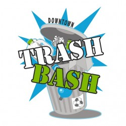 t-shirt downtown trash bash...