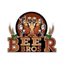 tee shirt Beer Bros white...