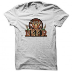 tee shirt Beer Bros white sublimation