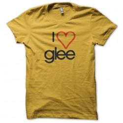 t-shirt i love glee yellow...