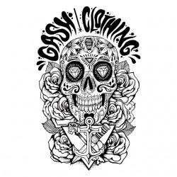 shirt Gash Clothing Skull black sublimation