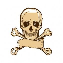 shirt Skull and bone white sublimation