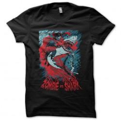 tee shirt Zombie vs requin...