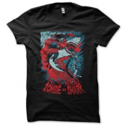 Zombie t-shirt black shark...