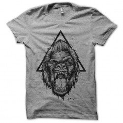 t-shirt gorillaz logo gray...