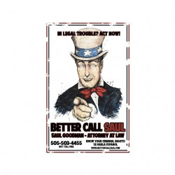 tee shirt Better call saul parody uncle sam white sublimation