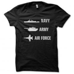 tee shirt navy army air...