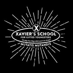 Xmen Xavier school t-shirt black sublimation