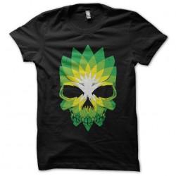 tee shirt Skulls leaf...