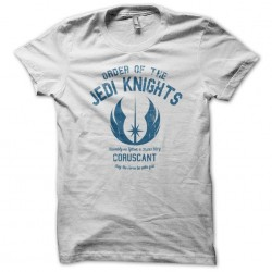 University Jedi knights Tee Shirt White sublimation
