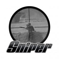 Sniper shirt white sublimation