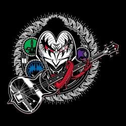 kiss shirt Gene Kiss Army black sublimation