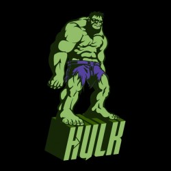 tee shirt The Hulk black sublimation
