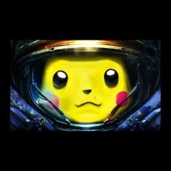 tee shirt Pikachu Starcraft black sublimation