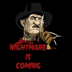 tee shirt Nightmare is Coming sublimation