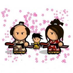 tee shirt samurai  sublimation