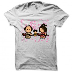 white samurai sublimation t-shirt