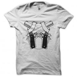 tee shirt gun twins white...