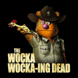 wocka wocka t-shirt black d sublimation