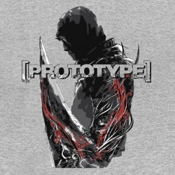gray sublimation Game prototype t-shirt