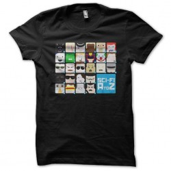 tee Shirt Science Fiction A To Z Black Face Black Sublimation