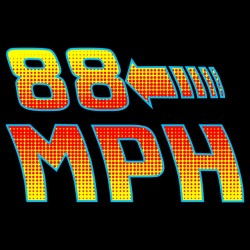 tee shirt Back to the 88 MPH black sublimation