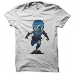 white warrior bear t-shirt sublimation