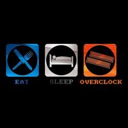 tee shirt Eat Sleep Overclock black sublimation