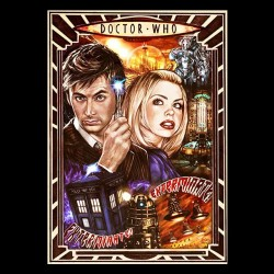 Doctor Who poster black sublimation t-shirt