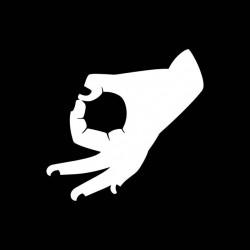 black sublimation hand sign t-shirt