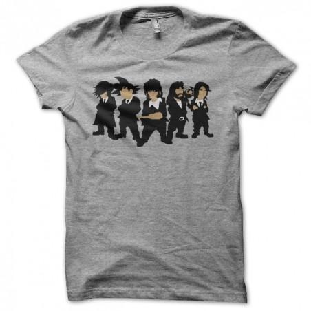 T-shirt Manga Parody Reservoir Dogs Gray Sublimation